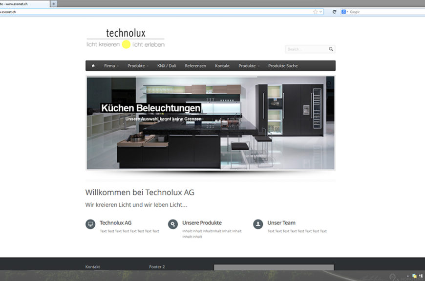 Technolux in Entwicklung | evoNET Web Solutions